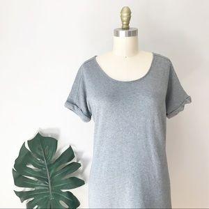 Love, ❤️ Hanna • Grey Organic Cotton T-Shirt Dress